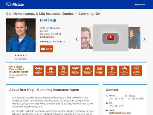Allstate Insurance Agent Bret Hegi