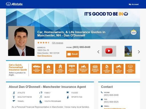 Allstate Insurance Quote Online Enchanting Insurance Agent Dan O'donnell
