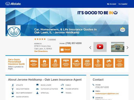 Allstate My Account >> Allstate Insurance Agent Jerome Heidkamp