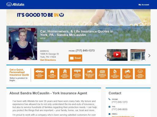 Allstate Insurance Quote | Allstate Insurance Agent Sandra Mccauslin