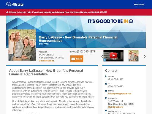allstate personal financial representative barry lagasse