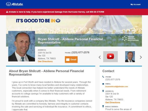 allstate personal financial representative bryan shilcutt