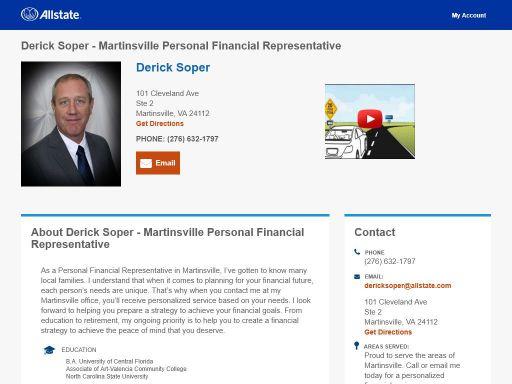 allstate personal financial representative derick soper
