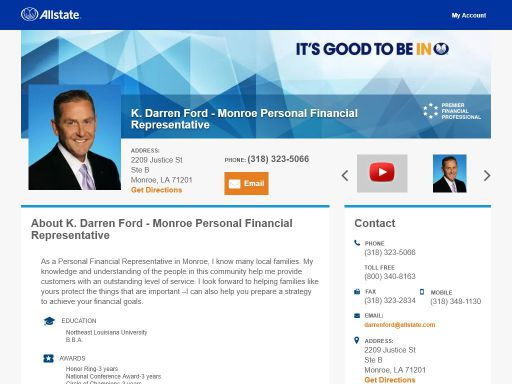 allstate personal financial representative k darren ford