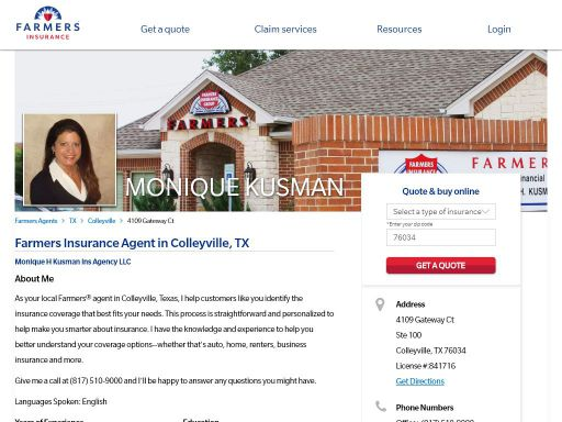 Farmers House Insurance >> Farmers Insurance Monique Kusman