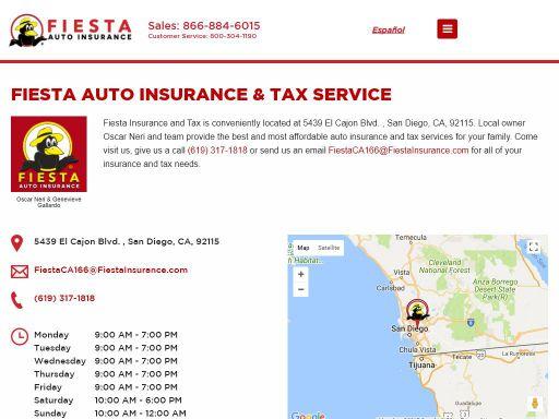 fiesta auto insurance tax service