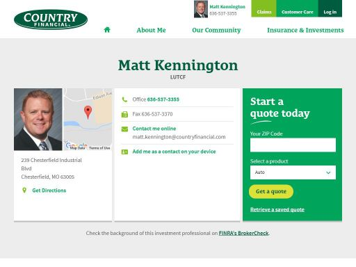 matt kennington country financial representative